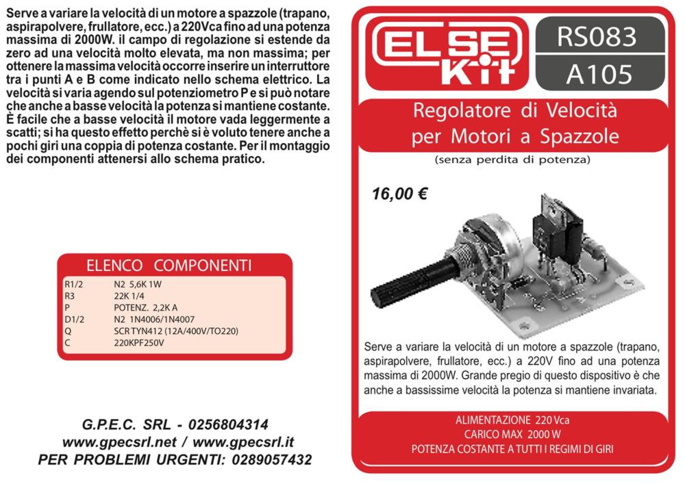Schema Elettrico Regolatore Per Motori Brushless : Negozio componenti elettronici vendita integrati gpec srl