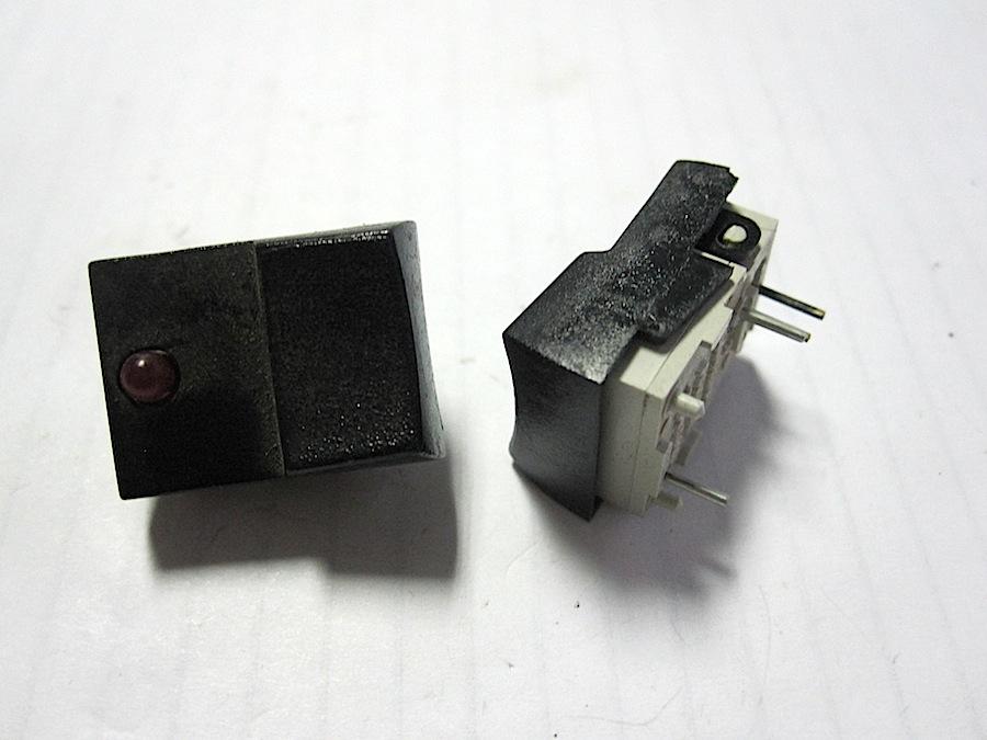 N.O. MINI Pulsante con LED rosso s101 LED SONDA premere-un