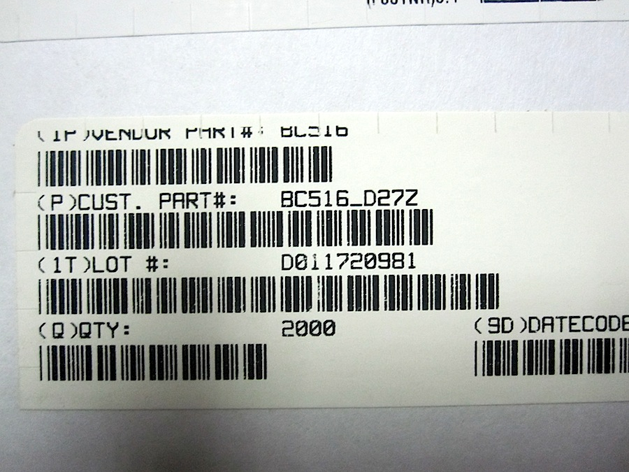 BC516-250MHZ-P3-DIN-DAR-X10-PEZZI